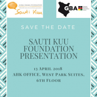 Save the Date: Sauti Kuu Foundation Presentation on 13 April 2018